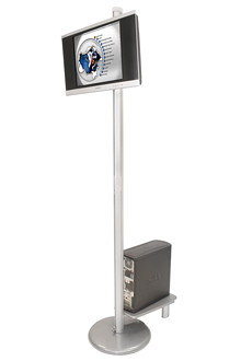 "40"" Flat Screen TV Kiosk, Portable 42"" Monitor Stand by tradeshowmall"