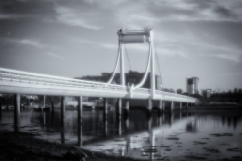 Forton Lake Bridge. Pinhole (f/177), Lensbaby Composer.