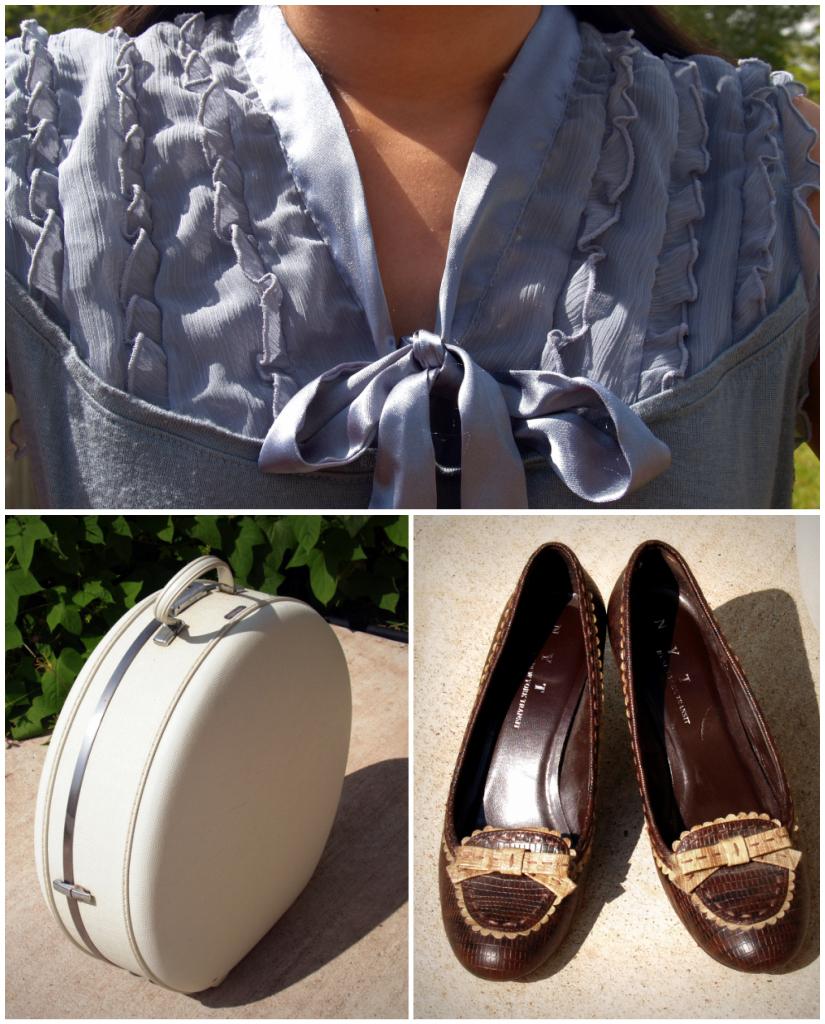 ruffles, suitcase, & shoes
