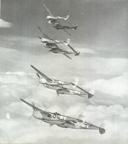 Warbird picture - Formation of MTO P-38 Lightnings
