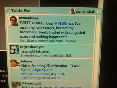 Menyambut TWEET ke-8000 dalam keadaan internet yang sungguh menyedihkan – @P1W1max