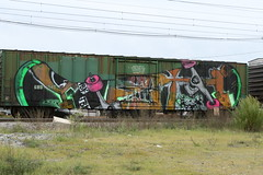 Get Awesome! (yetiglioblastoma) Tags: graffiti die or trains skate tbk ars yeti freight spade thrashing inthecut
