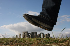 mind your step (maybemaq) Tags: uk blue england sky cloud green heritage field stone giant foot shoe shoes britain leg unesco jeans step illusion caution stonehenge grasses trick wiltshire bigfoot levis breathtaking mindyourstep maybemaq colorphotoaward