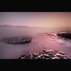 """ MISTY DUNRAVEN BAY "" (Wiffsmiff23) Tags: mist fog foggy hoya slabs subtle misted nohorizon nd8 dunravenbay"