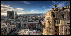 Union Square, San Francisco (Michael  Hunter) Tags: blue sky panorama clouds canon buildings square michael san francisco union hunter 1740mm hdr photomatix 5dmkii michaeljhunter michaeljhunterphotography michaeljhuntercom