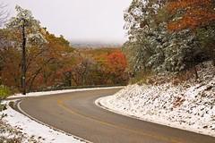 Snowy Skyline Drive