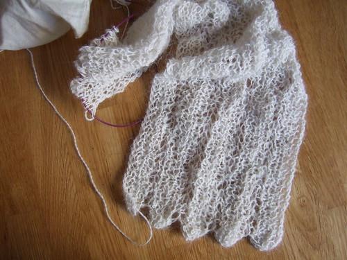 alpaca lace scarf