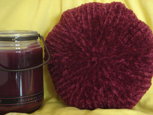 Chenille with Candle