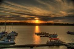 Sunset at Rick's Boatyard