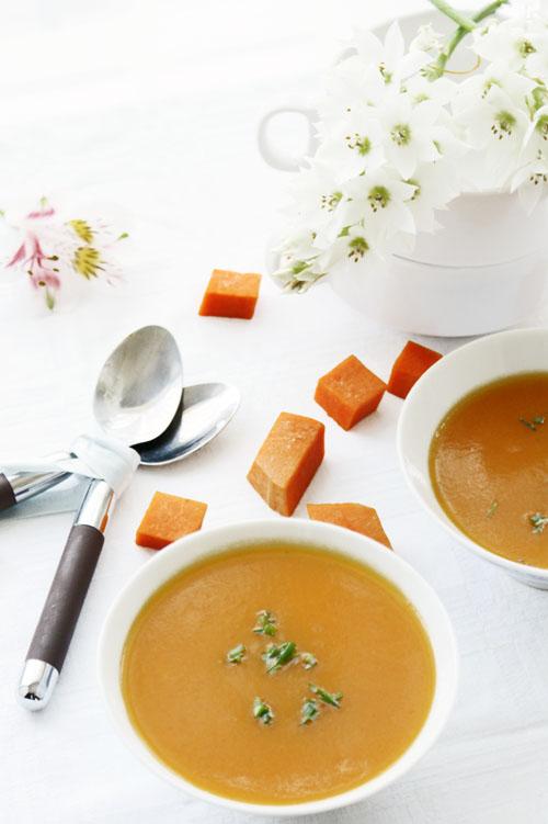 Orange squash soup