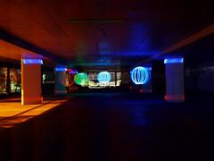 orbgasmatron in the car park (54 Ford Customline) Tags: neon leds carpark orbs abandonedfrankstoncarpark orbmakingrig