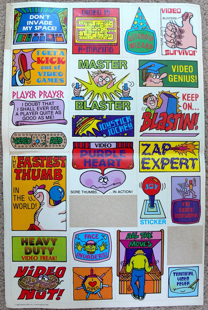 Video Game Stickers by LauraMoncur from Flickr