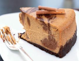 Pumpkin-Chocolate Swirl Cheesecake