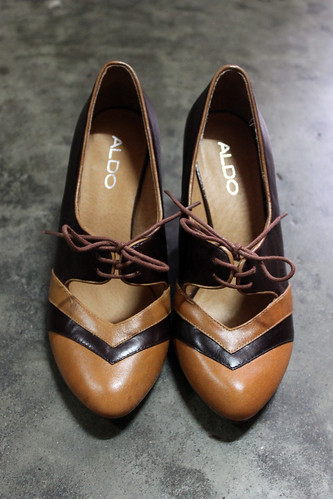Aldo Oxford-Style Stacked Heeled Shoes