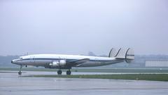 Janet (ƒliçkrwåy) Tags: n11sr lanzair lockheed l1049 l1049h super connie constellation propliner airliner aircraft aviation kodachrome gatwick london egkk lgw