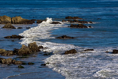 Pacific Coast (Robert Borden) Tags: pacific coast ocean geology coastline rocky waves wet water sea surf blue lookingsouth leocarrillo statepark socal california westcoast southwest west usa northamerica canon canonphotography canonphotographer canonrebel cormorants