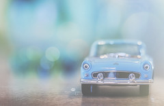 i gotta wear shades (rockinmonique) Tags: 52in52 tinycar toy miniature blue bokeh highkey sparkle moniquew canon canont6s tamron copyright2017moniquew
