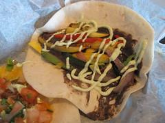 verde taqueria - grilled vegetable taco