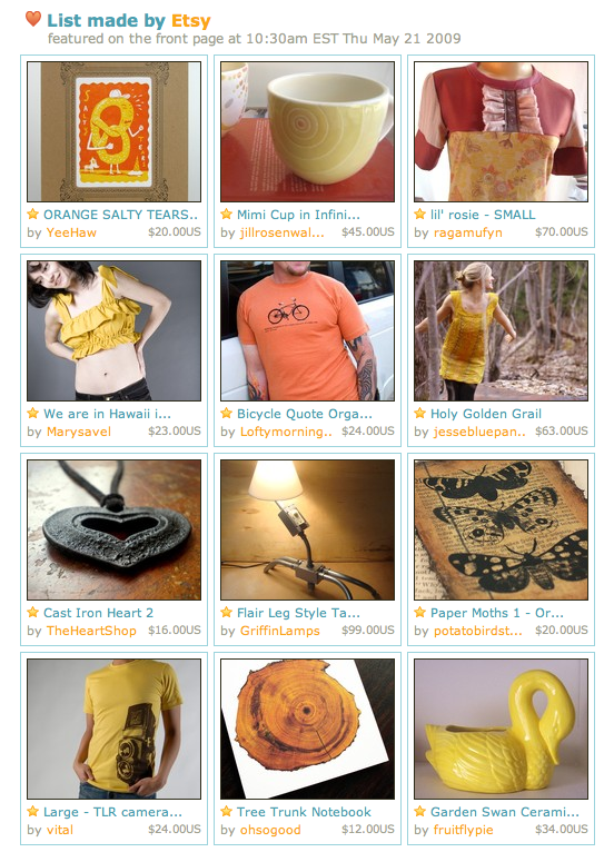 etsy front page may 15th