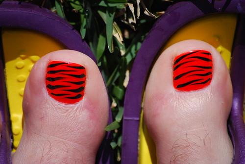Nail Art Gallery Tiger Stripes Nail Art