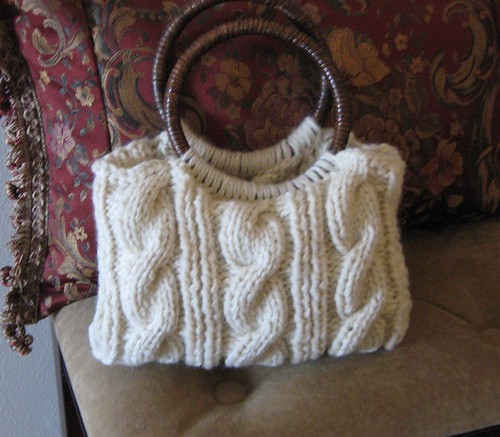 Bamboo Cabled Handbag by Knit Gallery by Arly.