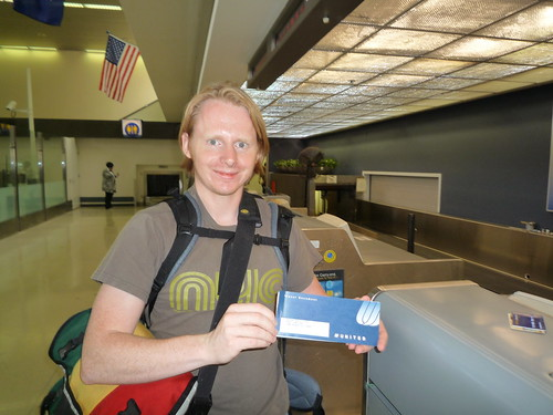 Christian with Voucher at LAX