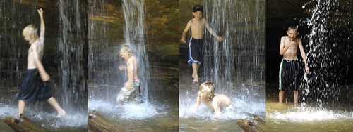 Waterfall kids