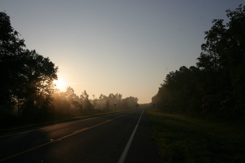Sunrise cycling in Hampton Springs, Florida.