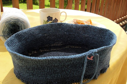 June 6-working on my crochet bag
