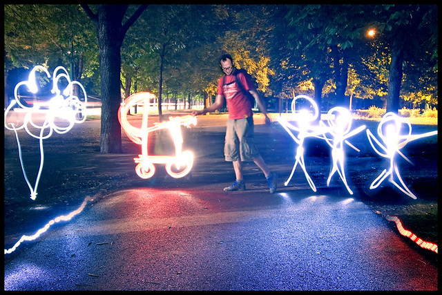 light painting daddy cool