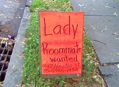 Lady roommate wanted