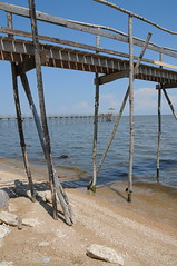 pier pressure (anniedaisybaby) Tags: light sun lake tourism beach pier sand day shadows lakedistrict cottagecountry manitoba clear shore recreation interlake lakewinnipeg poplarpier