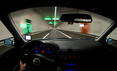 uetlibergtunnel & me (Toni_V) Tags: car vw golf volkswagen schweiz switzerland europe driving zurich perspective tunnel fisheye zürich gti 2009 notripod d300 105mm 090606 uetlibergtunnel toniv abigfave dsc8375