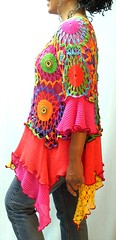 Circus Tunic (brendaabdullah) Tags: fashion diy clothing women colorful designer recycled sweaters crochet knit funky indie tops sustainable tunic pieced brendaabdullah ecoconsious
