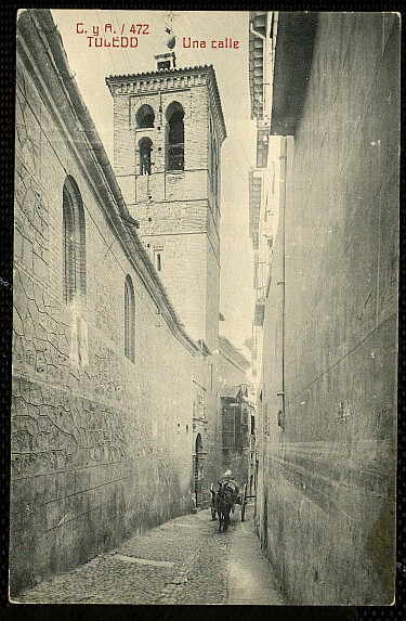 Iglesia de la Magdalena. Foto Castiñeira y Alvarez, 1914