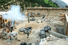 Securing Barge Matal (The U.S. Army) Tags: mountain afghanistan soldier army village military taliban firefight usarmy 10thmountaindivision nuristanprovince mortarrounds bargematal operationmountainfire