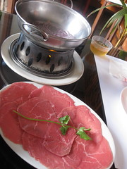 Pagolac in San Francisco - Course 2: Vinegar Fondue beef