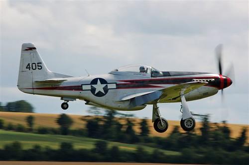 Warbird picture - Biltema Cavalier mustang landing