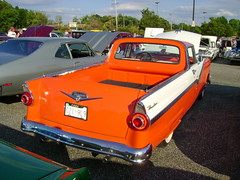 1956 Ford Fairlane Ranchero (splattergraphics) Tags: ford truck pickup 1956 fairlane ranchero customcar twotone cruisenight glenburniemd lostinthe50s marleystationmall