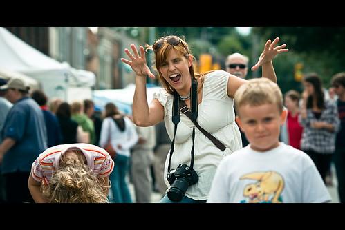 Kelly embarrassing her children... by Dom Cruz