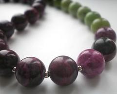 Jasper and chrysopase necklace