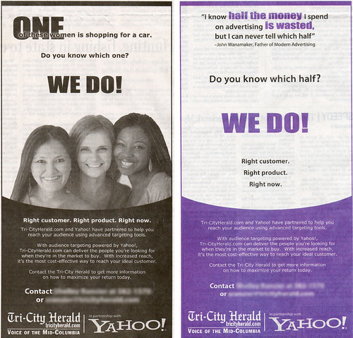 Yahoo's Newspaper Ad Program in My Hometown