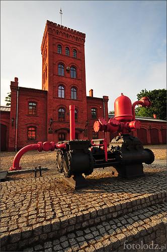 Straż pożarna na Księżym Młynie w Łodzi