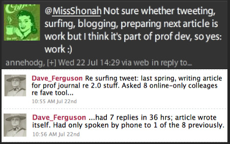 Anne Hodgson's/ Dave Ferguson's Tweets