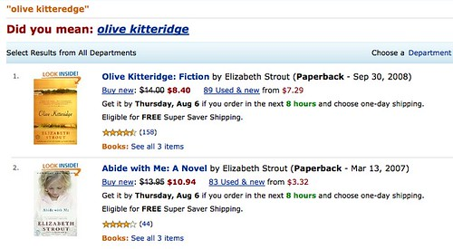 Amazon Olive Kitteridge by you.