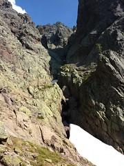 Campu di Vetta : le couloir Sud du Tafonatu et son névé dans l'après-midi