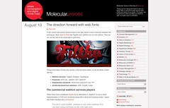 Molecular Voices » The direction forward with web fonts_1250278368979