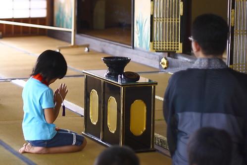 2009順光寺サマースクール 仏事作法のお勉強