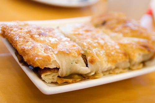 scallion pancake with beefies