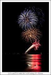 International Fireworks Competion 2009, Netherlands (sandeep thukral) Tags: beach strand canon scheveningen den denhaag 1750 haag tamron 2009 vuurwerk 450d